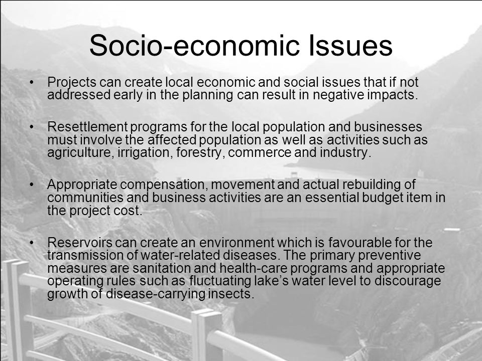 Socio-economic Issues