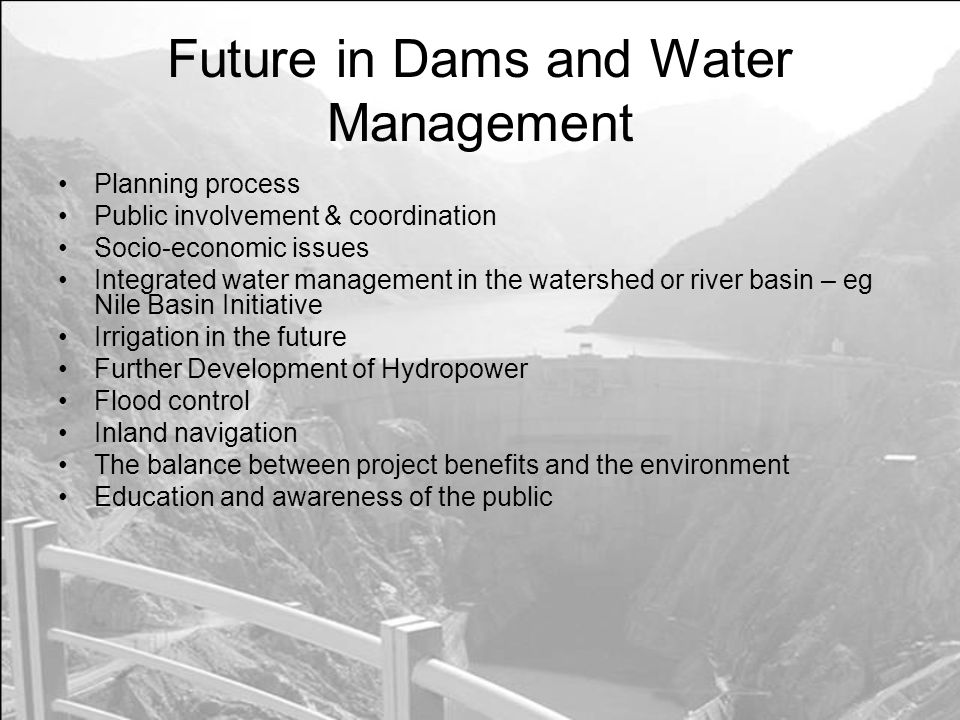 Future in Dams and Water Management