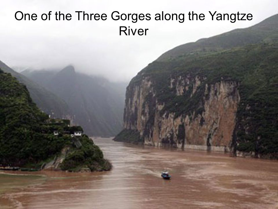 One of the Three Gorges along the Yangtze River