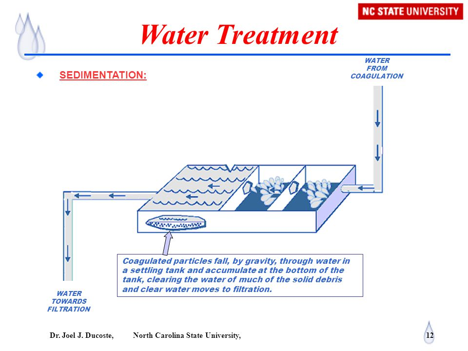 Water Treatment SEDIMENTATION: