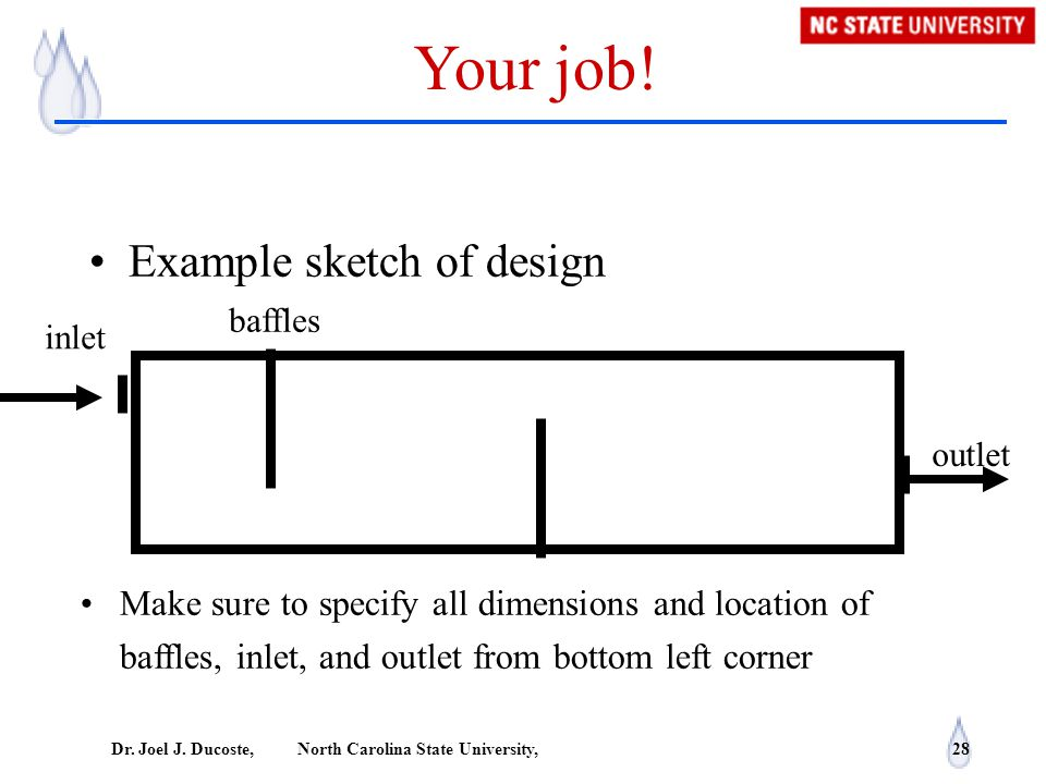 Your job! Example sketch of design
