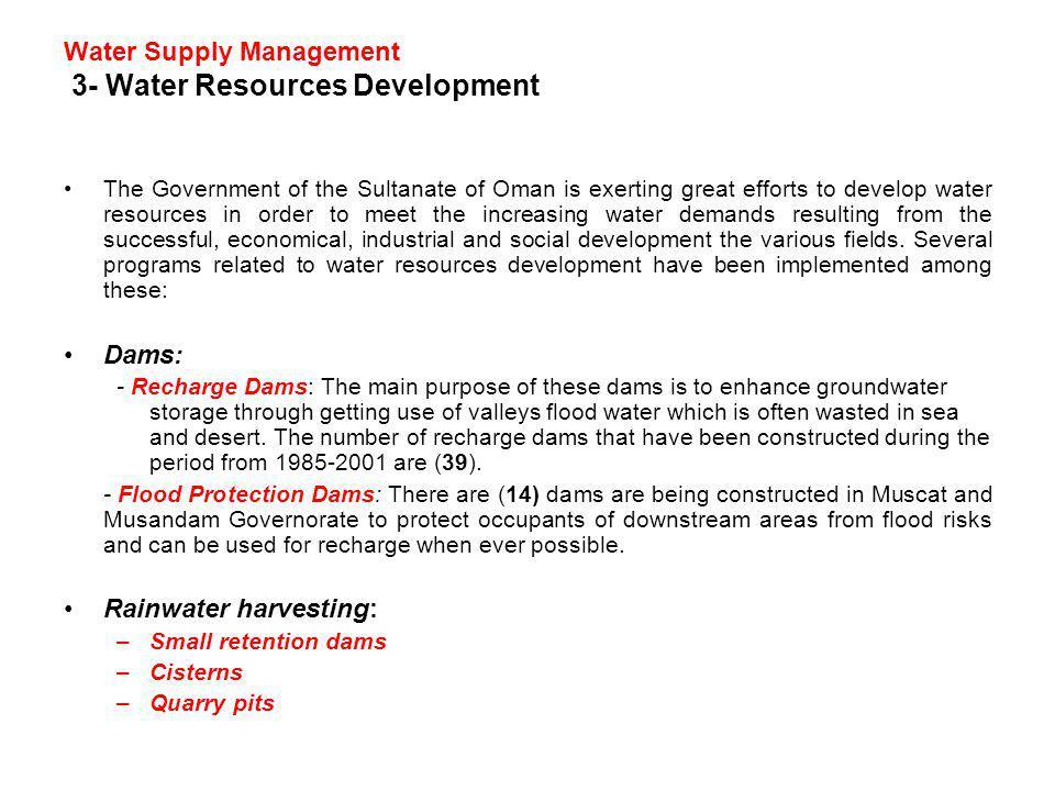Water Supply Management 3- Water Resources Development