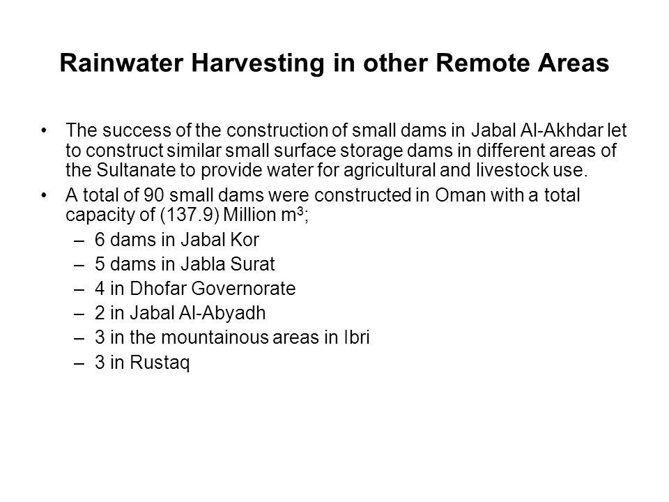 Rainwater Harvesting in other Remote Areas