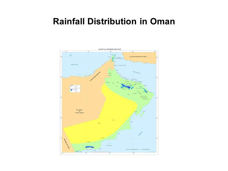 Rainfall Distribution in Oman