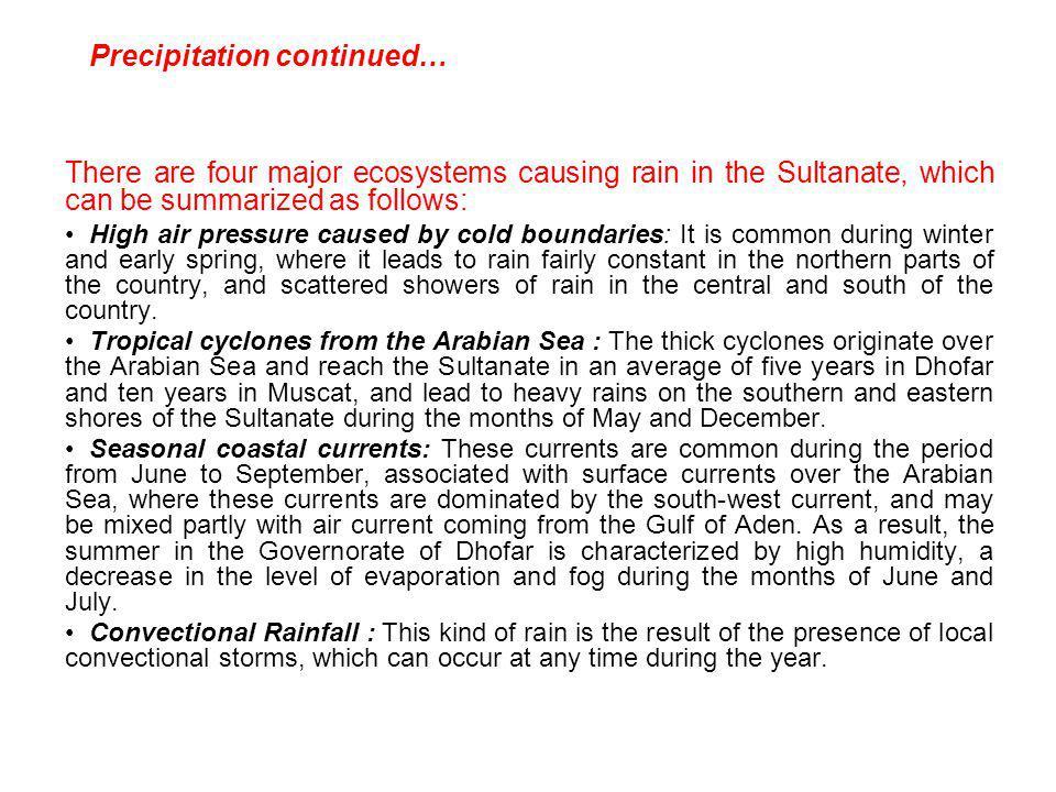 Precipitation continued…