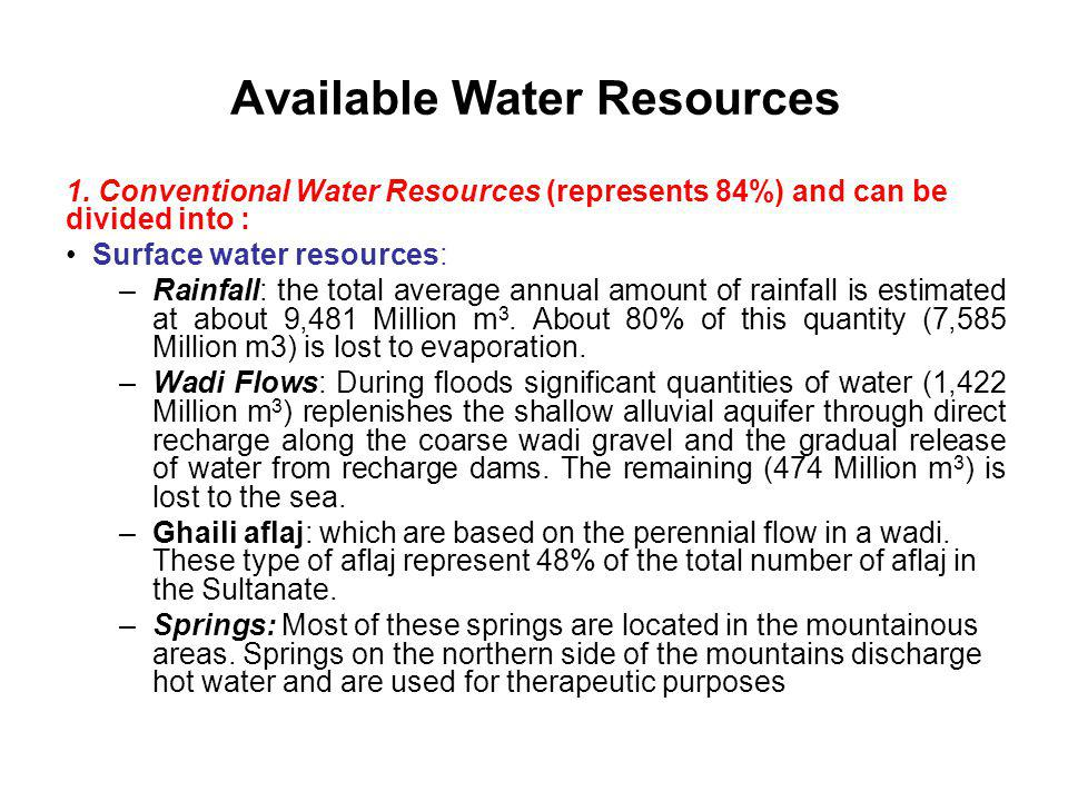 Available Water Resources