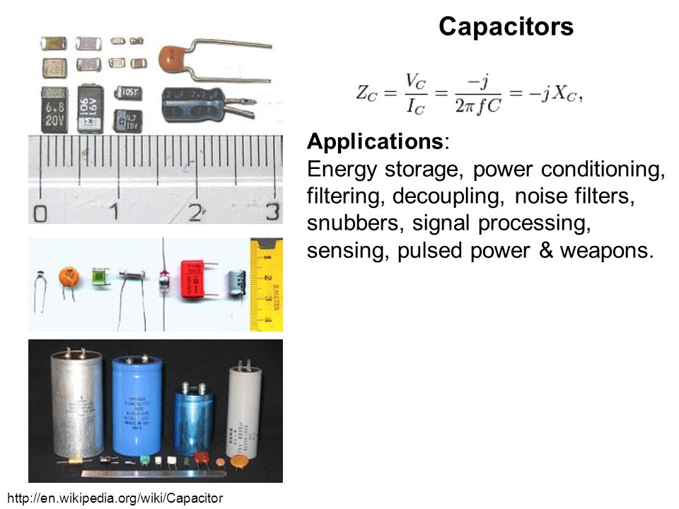Capacitors Applications: