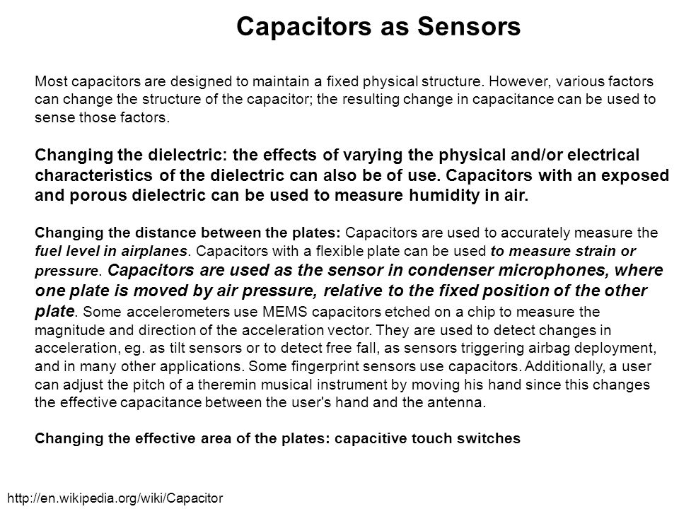 Capacitors as Sensors