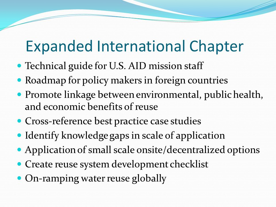 Expanded International Chapter