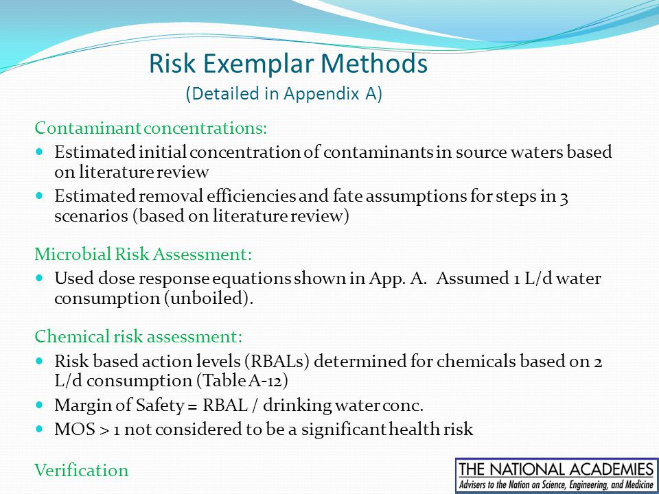 Risk Exemplar Methods (Detailed in Appendix A)