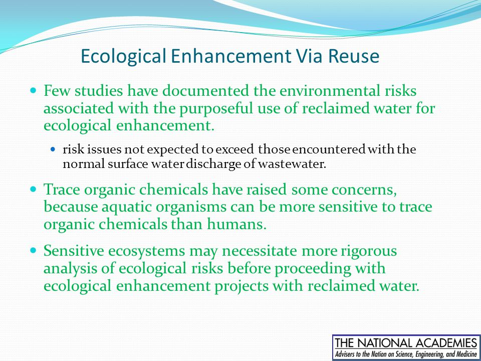 Ecological Enhancement Via Reuse