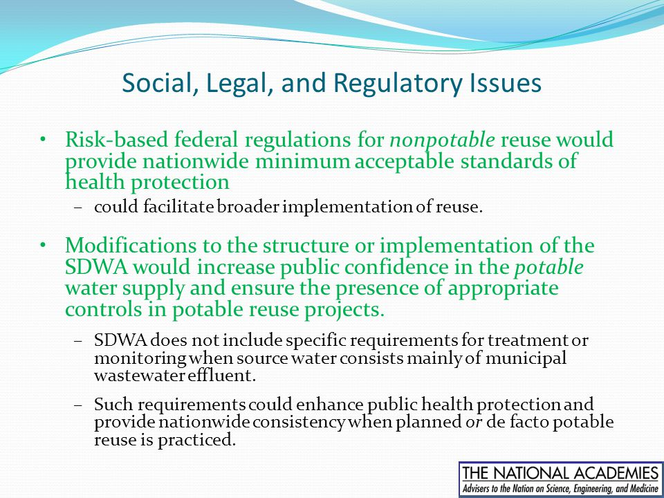 Social, Legal, and Regulatory Issues