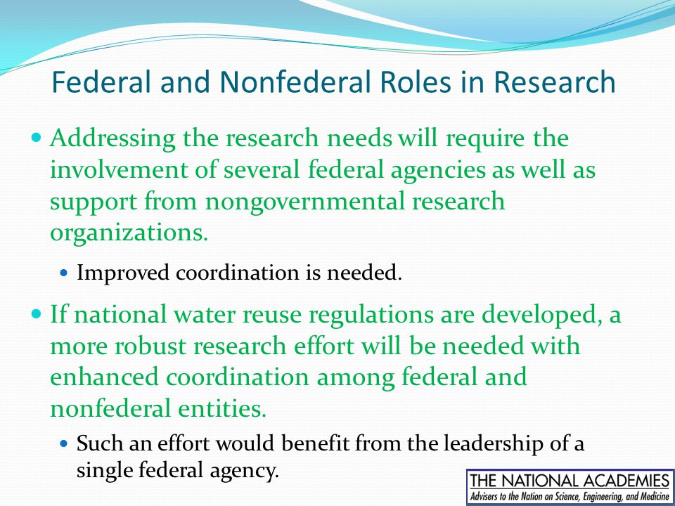 Federal and Nonfederal Roles in Research