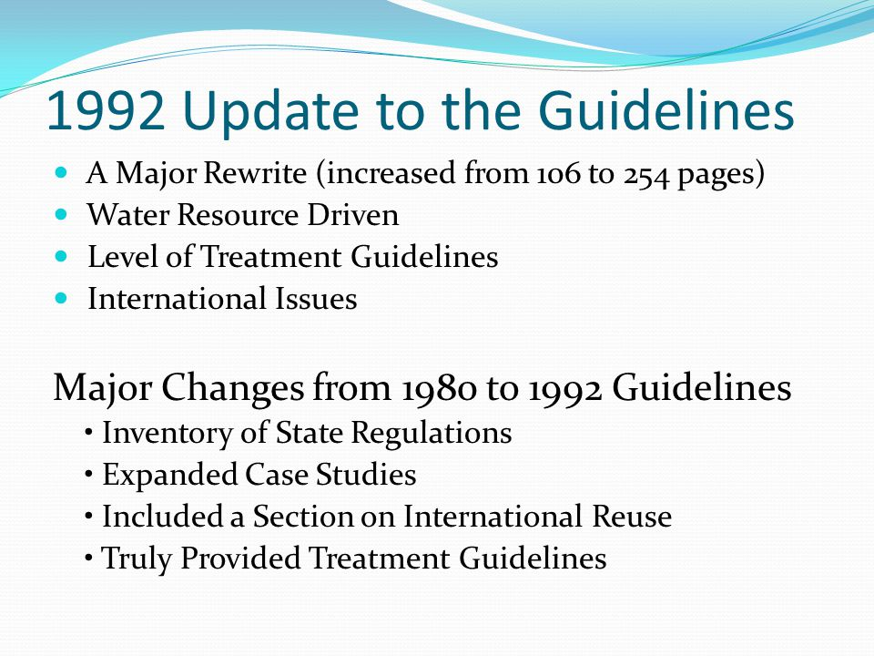 1992 Update to the Guidelines