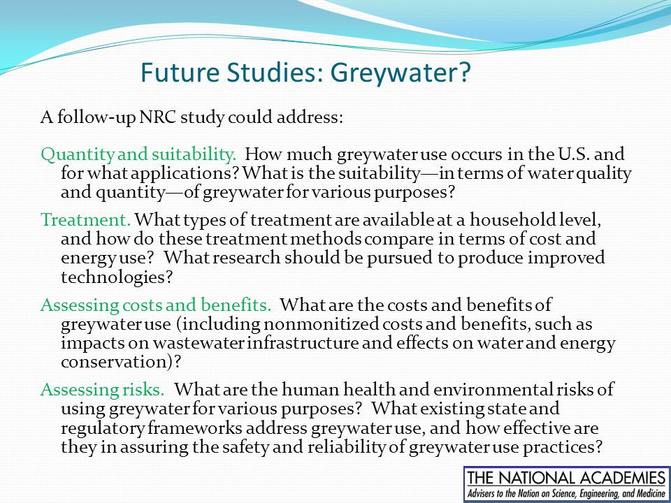 Future Studies: Greywater