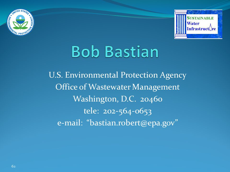 Bob Bastian U.S. Environmental Protection Agency