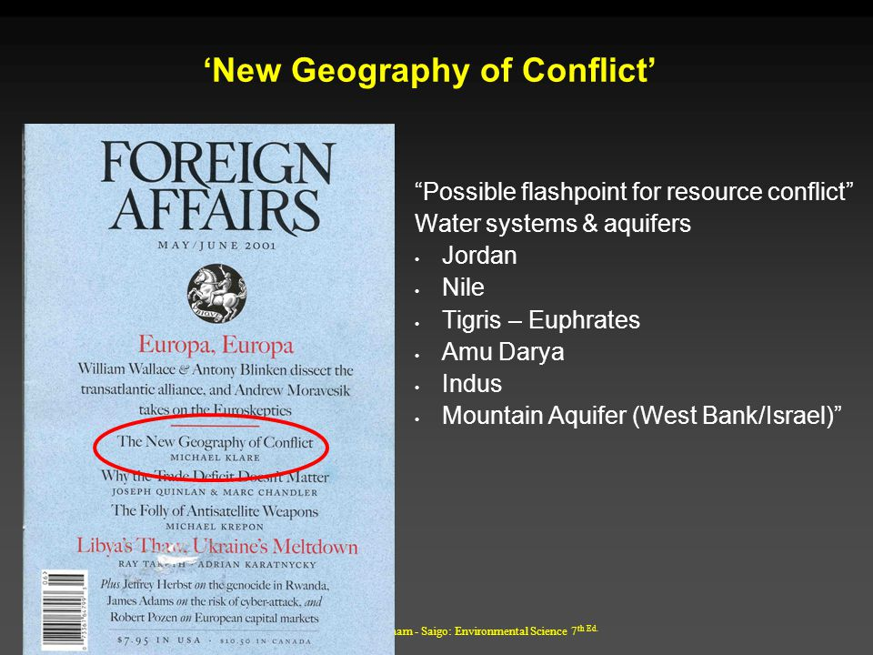'New Geography of Conflict'