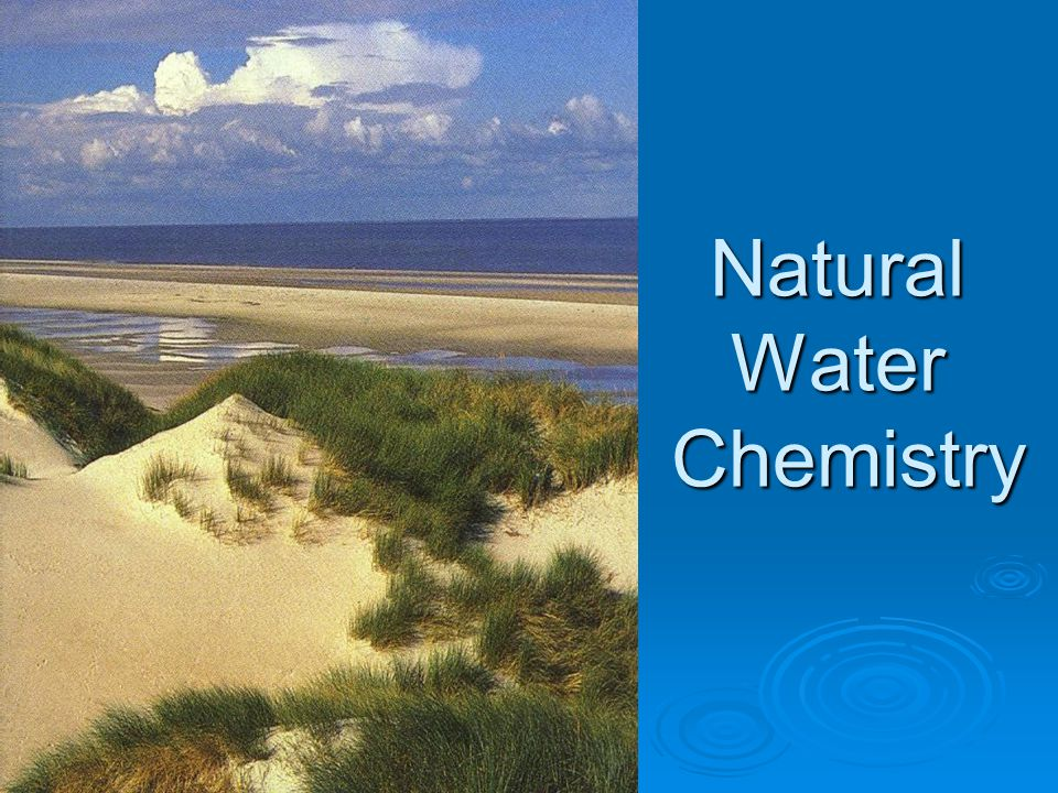 Natural Water Chemistry