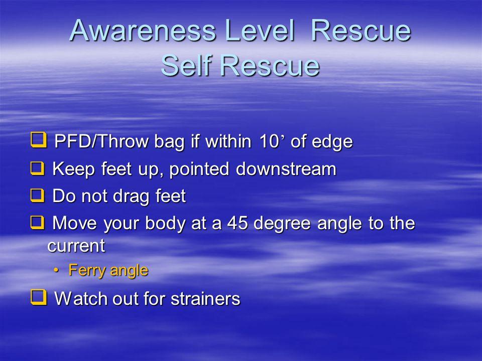 Awareness Level Rescue Self Rescue