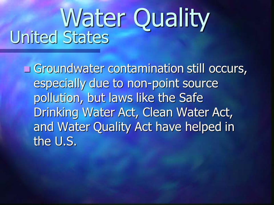 Water Quality United States