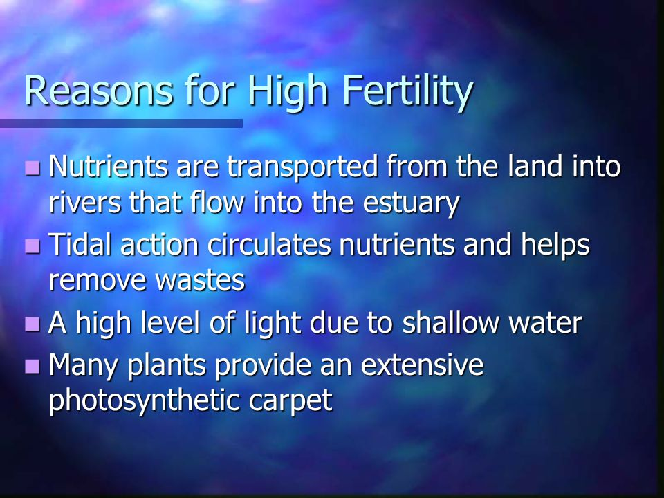 Reasons for High Fertility