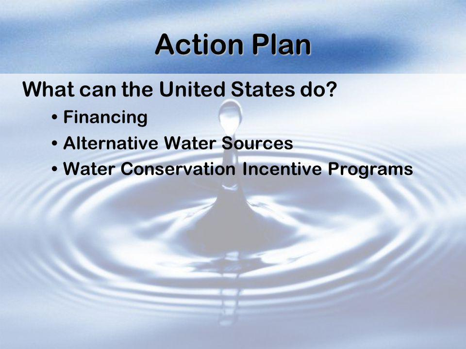 Action Plan What can the United States do Financing
