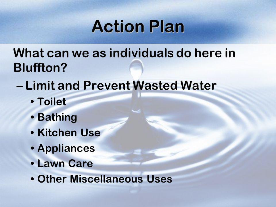 Action Plan What can we as individuals do here in Bluffton