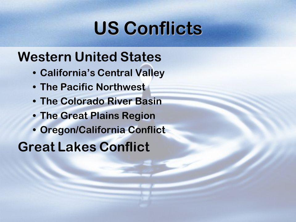 US Conflicts Western United States Great Lakes Conflict