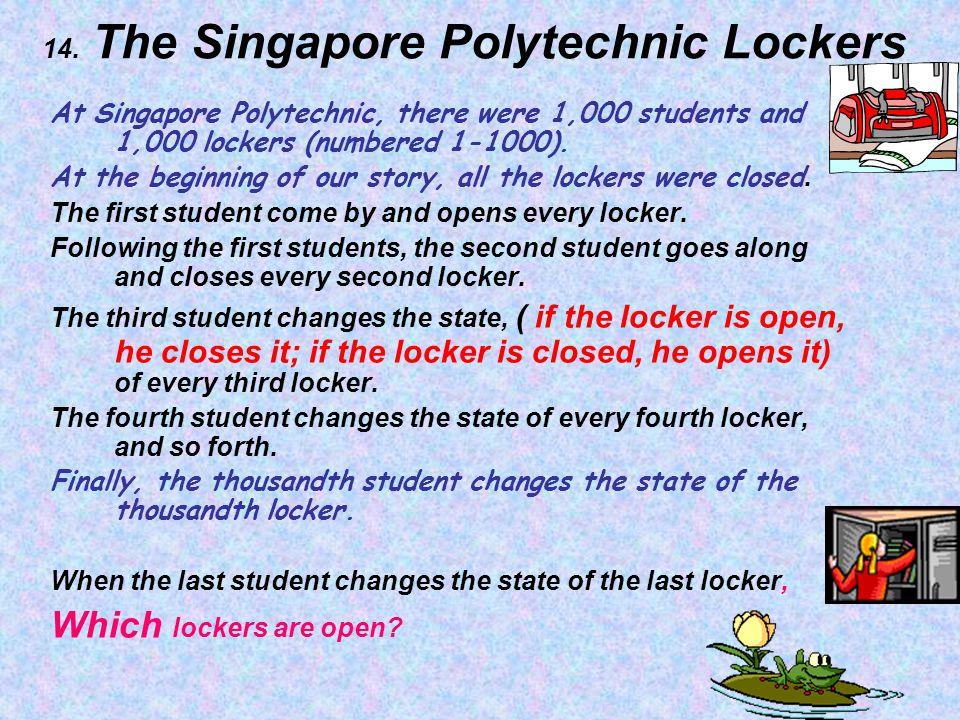 14. The Singapore Polytechnic Lockers