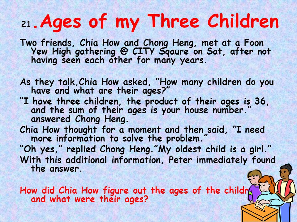 21.Ages of my Three Children