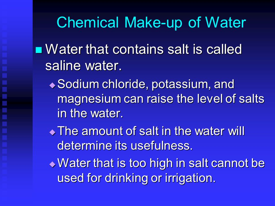 Chemical Make-up of Water
