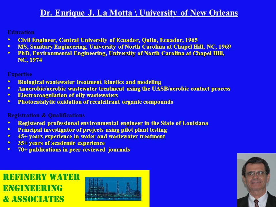 Dr. Enrique J. La Motta \ University of New Orleans