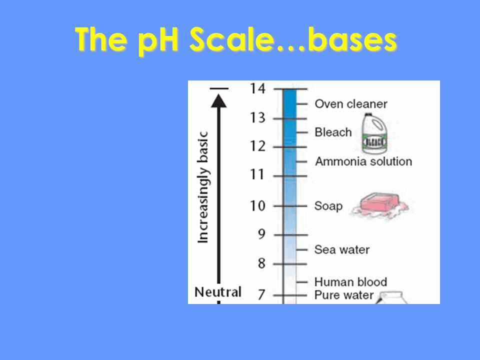 The pH Scale…bases