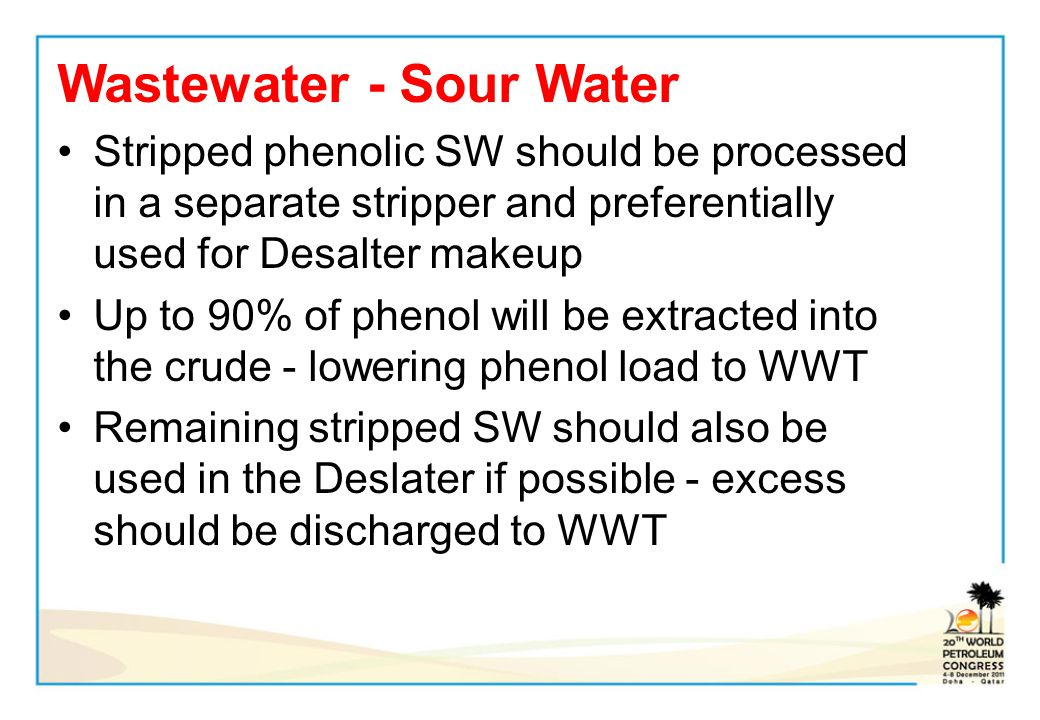 Wastewater - Sour Water