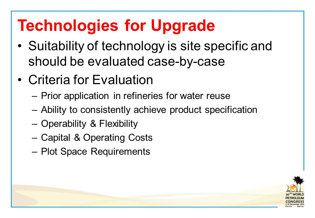 Technologies for Upgrade