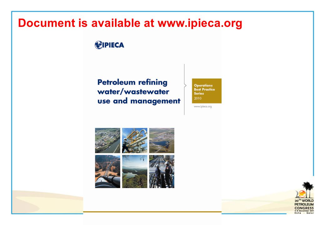 Document is available at www.ipieca.org