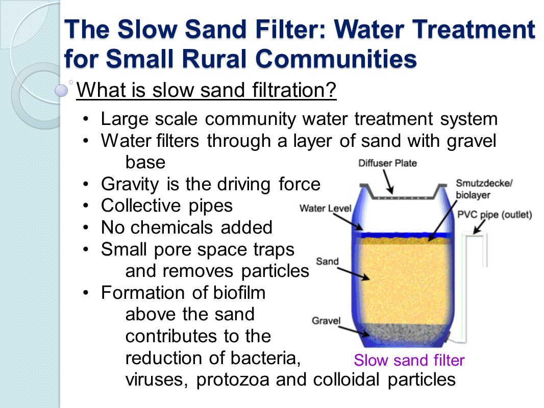 The Slow Sand Filter: Water Treatment for Small Rural Communities