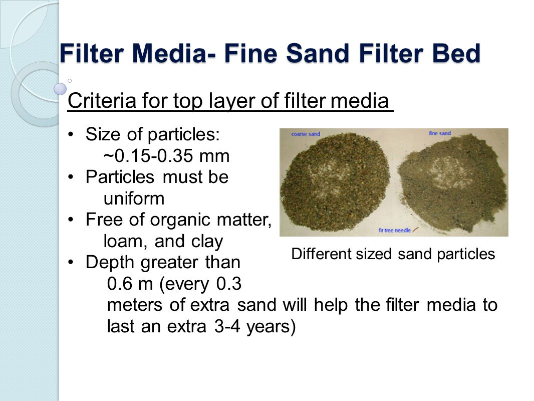 how to change sand filter media