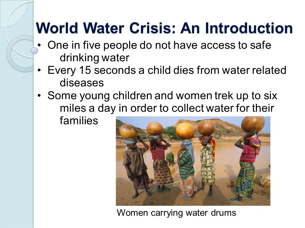 World Water Crisis: An Introduction
