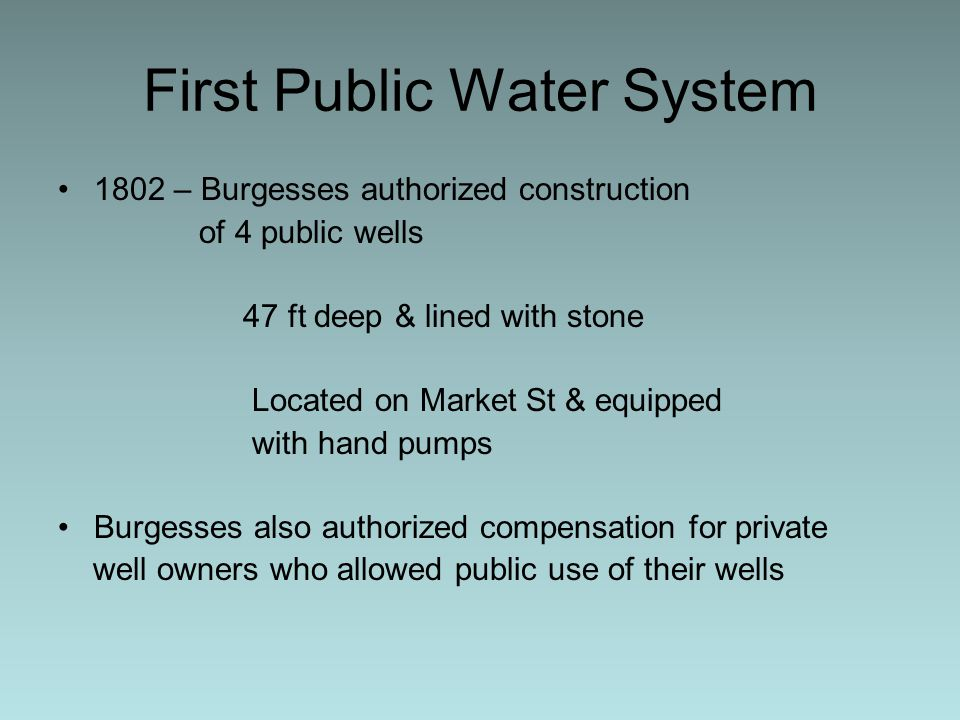 First Public Water System