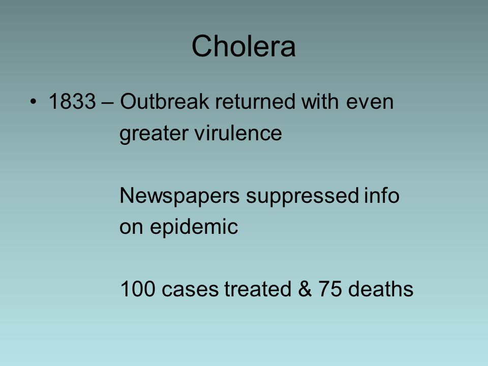 relationship between water supply and cholera
