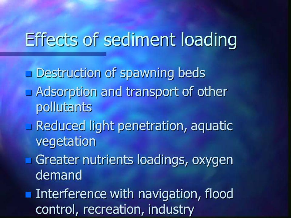 Effects of sediment loading