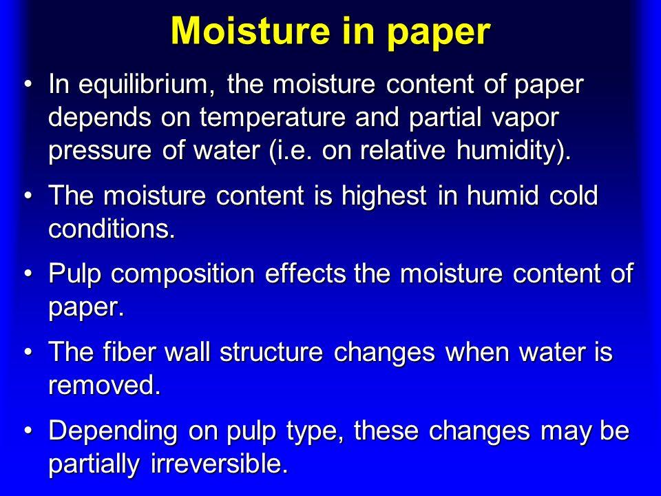 Moisture in paper