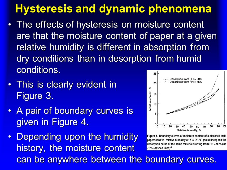 Hysteresis and dynamic phenomena