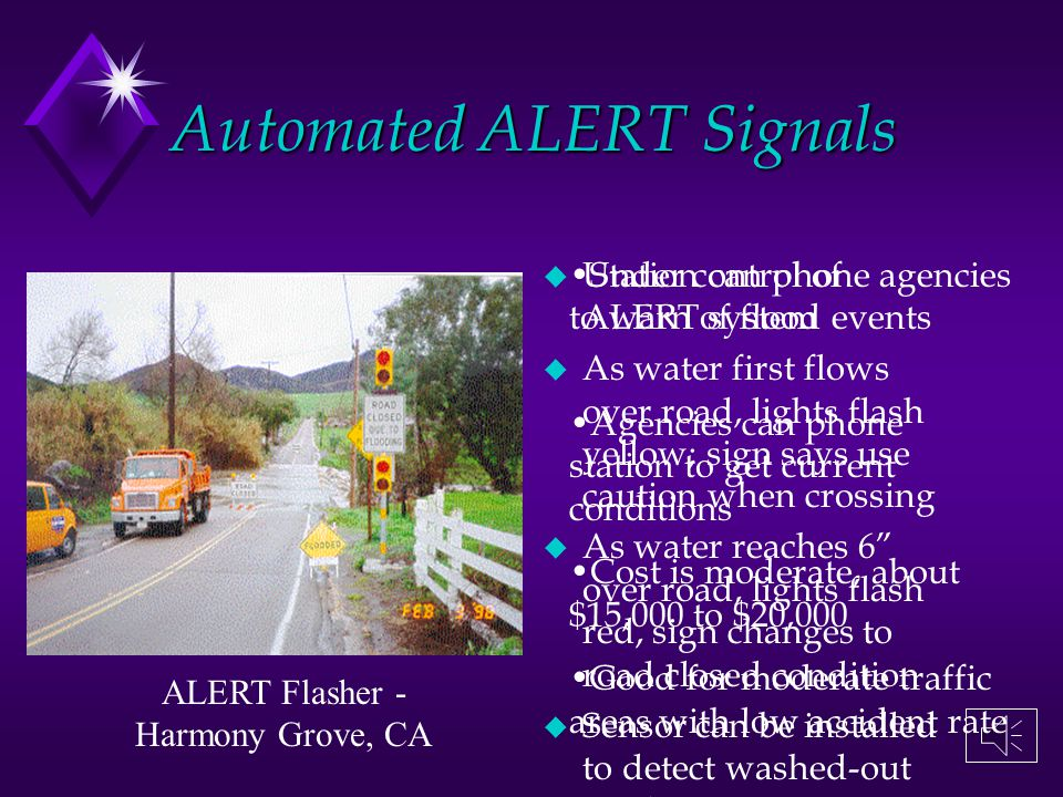 Automated ALERT Signals