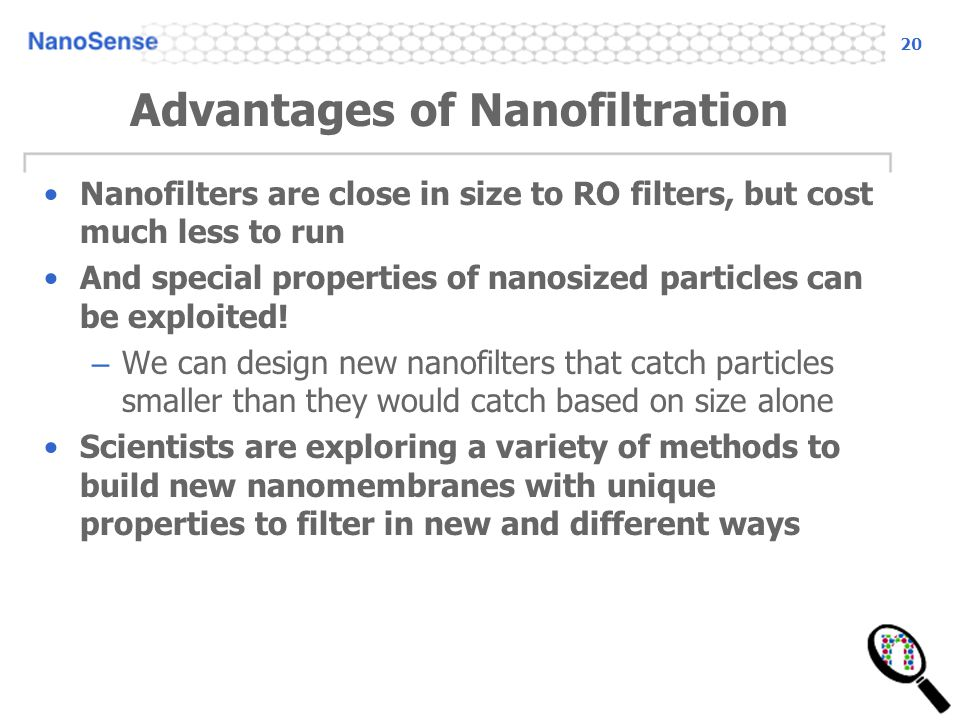Advantages of Nanofiltration