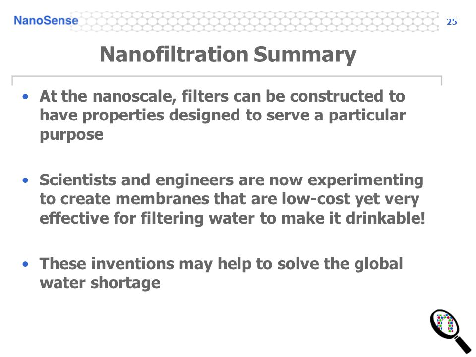 Nanofiltration Summary
