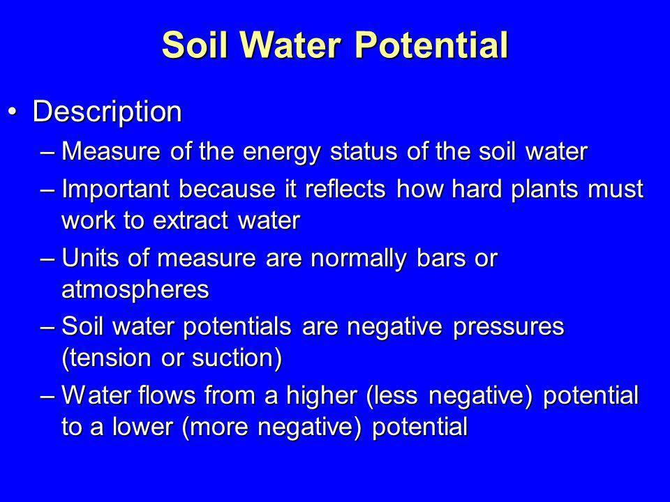 Soil Water Potential Description
