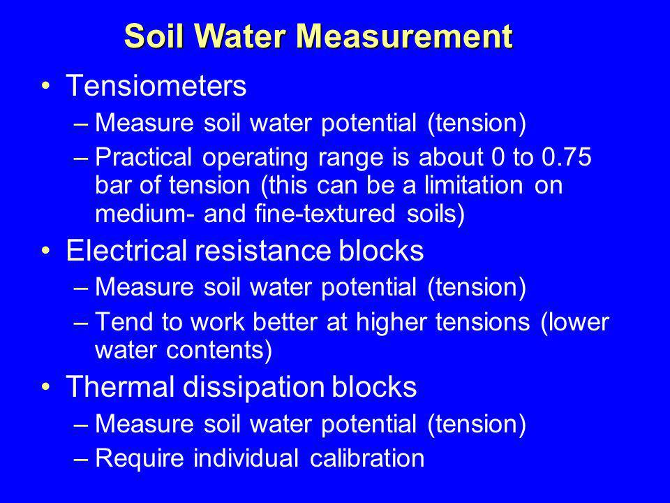 Soil Water Measurement