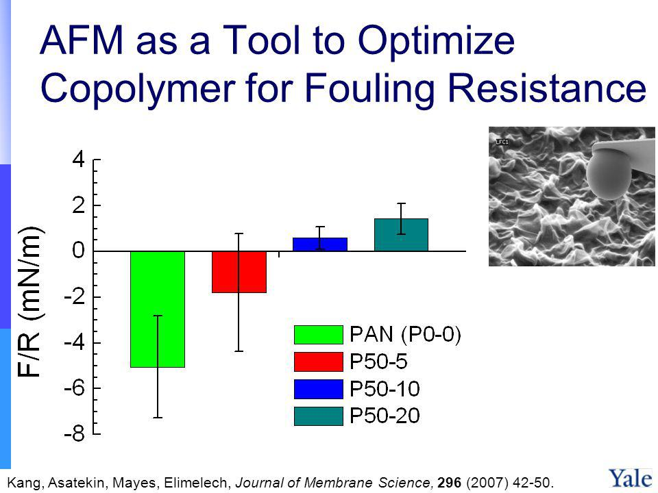 AFM as a Tool to Optimize Copolymer for Fouling Resistance